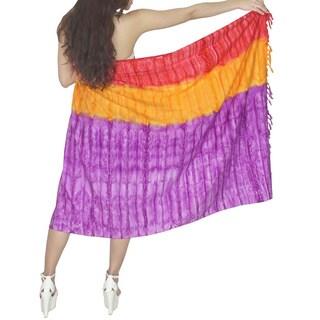 La Leela Tie Dye Sarong Cover-up
