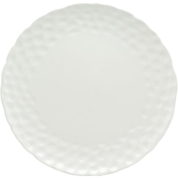 Red Vanilla 10.25-inch Marble Dinner Plates (Set of 6)