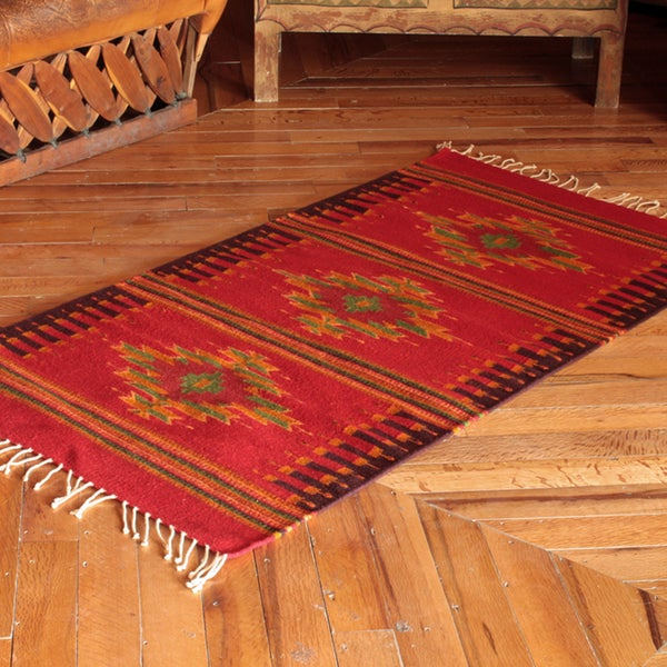 Handcrafted Zapotec Wool 'Oaxaca Colors' Rug (2'5x5