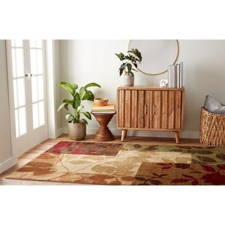 Downtown Geometric Foilage Area Rug (5'2 x 7'2)