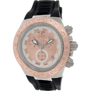 Invicta Men's Subaqua 15576 Black Leather Swiss Quartz Watch