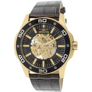 Invicta Men's Specialty 17261 Grey Leather Analog Quartz Watch