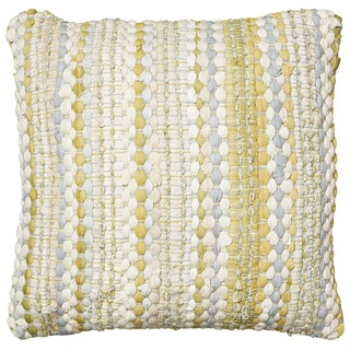 LNR Home Contemporary Yellow/ Grey Square 20-inch Throw Pillow
