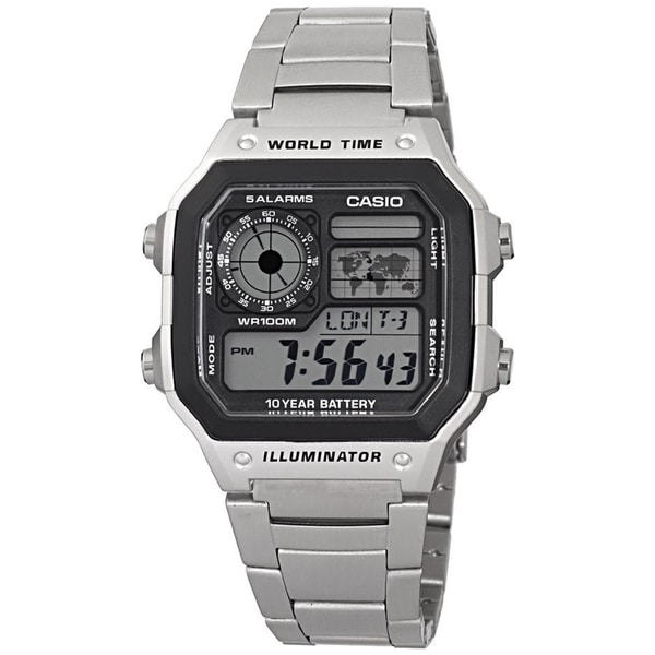 Casio Men's Core AE1200WHD-1AV Digital Stainless-Steel Quartz Watch