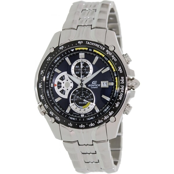 Casio Men's Edifice EF543D-2AV Blue Stainless-Steel Quartz Watch