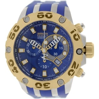 Invicta Men's Subaqua 0909 Blue Silicone Swiss Chronograph Watch