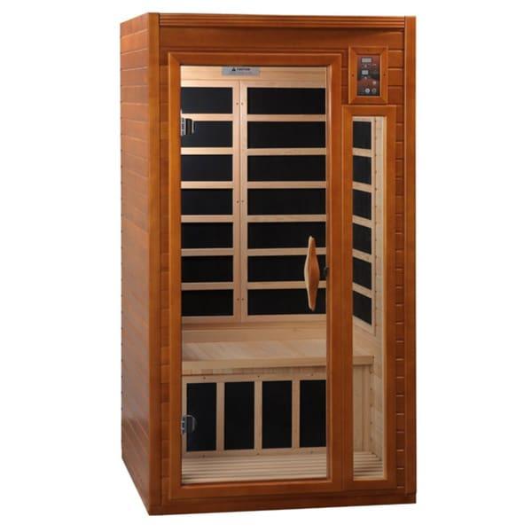 Dynamic 2-person DYN-9106-01 Dark Hemlock Wood Ceramic Sauna