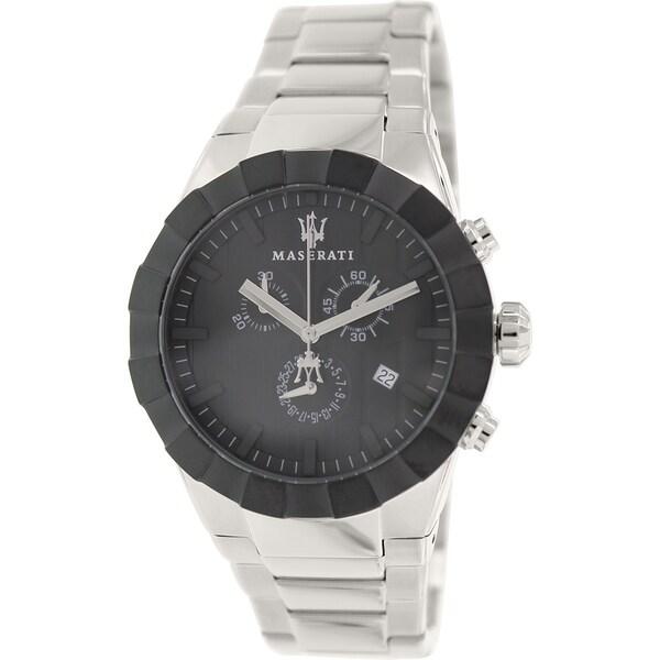 Maserati Men's Tridente R8873603002 Stainless Steel Swiss Quartz Watch