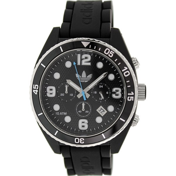 Adidas Men's Brisbane Black Silicone Quartz Watch