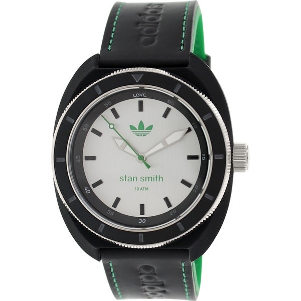Adidas Women's Stan Smith Black Leather Quartz Watch