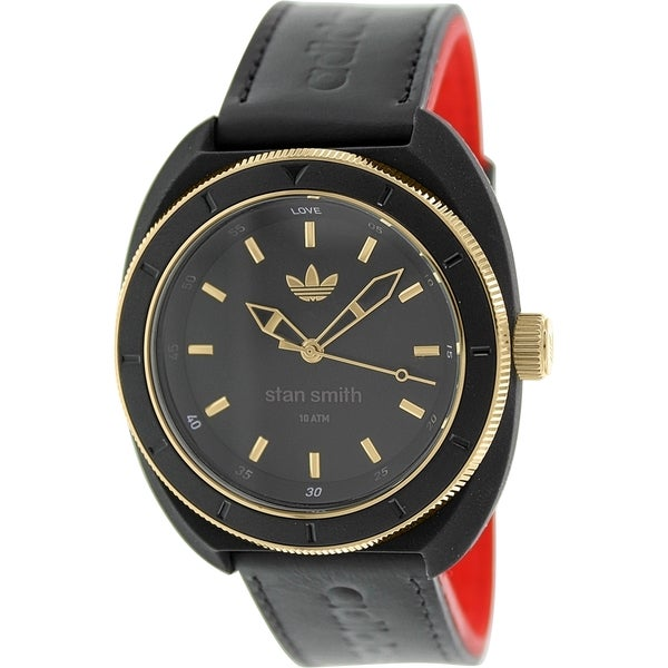 Adidas Women's Stan Smith Black Leather Automatic Watch