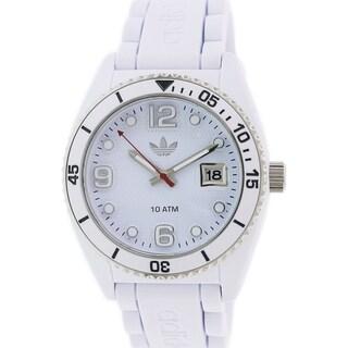 Adidas Women's Brisbane White Rubber Quartz Watch