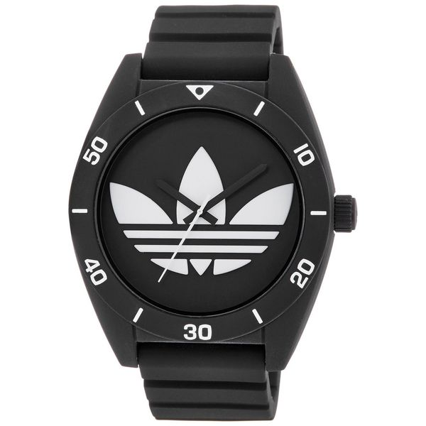 Adidas Men's Santiago ADH2967 Black Silicone Quartz Watch
