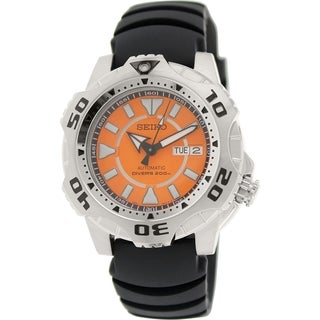 Seiko Men's 5 Automatic SKZ281K Orange Rubber Automatic Watch
