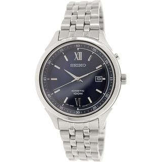 Seiko Men's SKA655 Metallic Stainless Steel Seiko Kinetic Watch