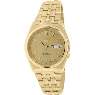 Seiko Men's 5 Automatic SNK642K Gold Stainless Steel Automatic Watch