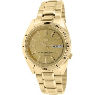 Seiko Men's 5 Automatic SNKF54K Gold Stainless Steel Automatic Watch