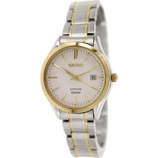 Seiko Women's SXDG20 Stainless Steel Quartz Watch
