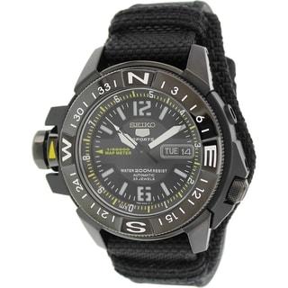 Seiko Men's 5 Automatic SKZ317K Black Nylon Automatic Watch
