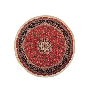 Persian Tabriz Round 400 KPSI Wool and Silk Area Rug (10' x 10')