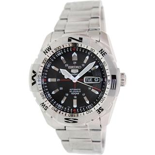 Seiko Men's SNZJ05K Black Stainless Steel Automatic Watch