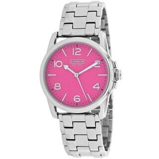Coach Women's 14501832 Sydney Round Silver-Tone Bracelet Watch