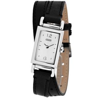 Coach Women's 14501599 Madison Rectangle Black Strap Watch