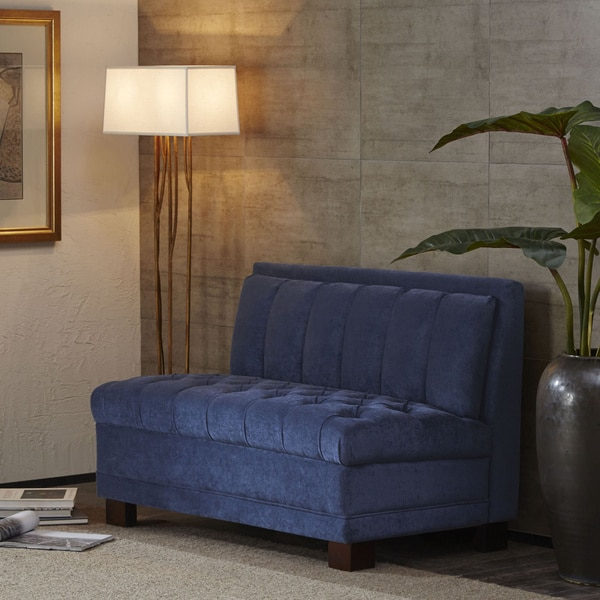 Navy Channel Back Settee