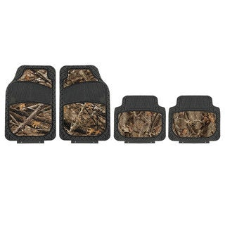 FH Group Forest Camouflage Pattern 4-piece Floor Mats