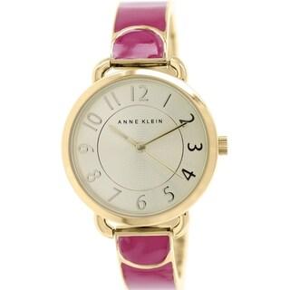 Anne Klein Women's AK-1606MAGB Pink Metal Quartz Watch