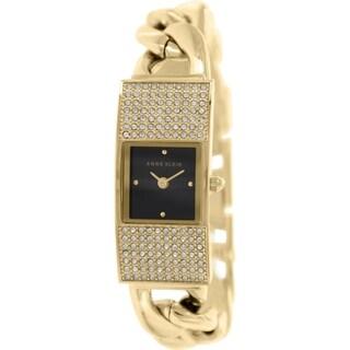 Anne Klein Women's AK-1706BKGB Gold Metal Quartz Watch