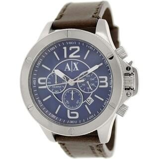 Armani Exchange Men's AX1505 Brown Leather Quartz Watch