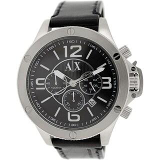 Armani Exchange Men's AX1506 Black Leather Quartz Watch