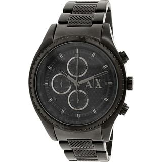 Armani Exchange Men's AX1605 Black Stainless Steel Quartz Watch