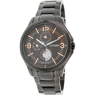 Citizen Men's AP4005-54E Black Stainless Steel Eco-drive Watch