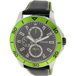 Citizen Men's AP4030-06E Black Nylon Eco-drive Watch