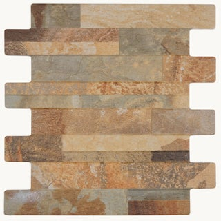 SomerTile 13x13-inch Navi Marron Porcelain Wall Tile (Case of 10)