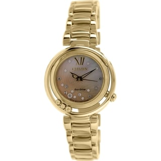 Citizen Women's EM0325-55P Gold Stainless Steel Eco-drive Watch