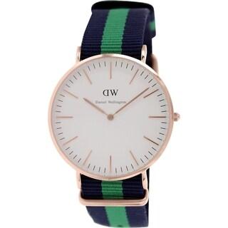 Daniel Wellington Men's Warwick White Nylon Quartz Watch