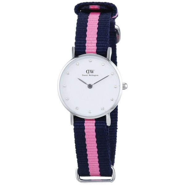 Daniel Wellington Women's Winchester Pink Nylon Quartz Watch