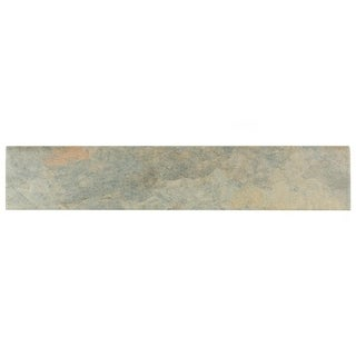 SomerTile 3.125x17.5-inch Ariana Gris Porcelain Bullnose Floor and Wall Tile (Pack of 6)