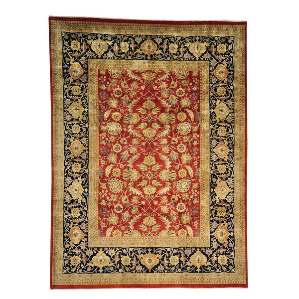 Oriental Sarouk 300 Kpsi New Zealand Wool New Zealand wool Area Rug (9' x 12'2)
