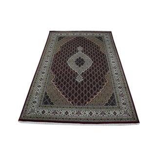Oriental Super Tabriz Mahi Hand-knotted Wool and Silk Area Rug (6'2 x 9'3)