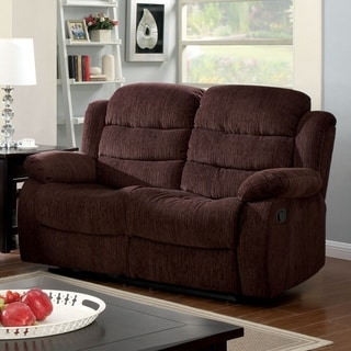 Furniture of America Aurese Chenille Reclining Loveseat