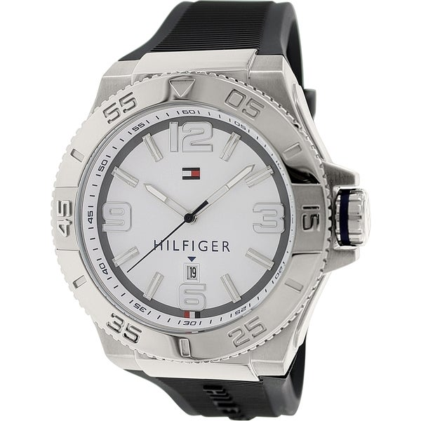 Tommy Hilfiger Men's 1791035 Charcoal Grey Rubber Quartz Watch