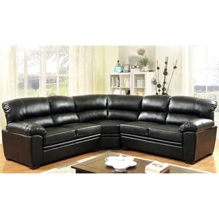 Furniture of America Aventh Modern Bonded Leather Sectional
