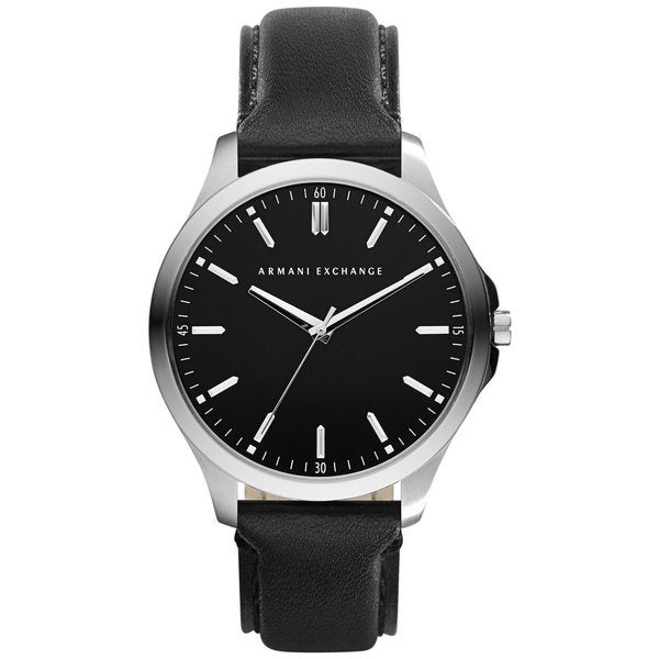 Armani Exchange Men's AX2149 Black Leather Quartz Watch