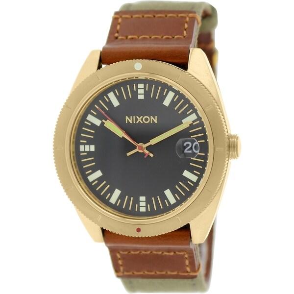 Nixon Men's Rover A3551432 Brown Cloth Quartz Watch