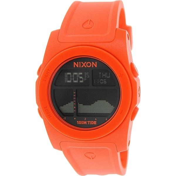 Nixon Men's Rhythm A3851156 Red Resin Quartz Watch