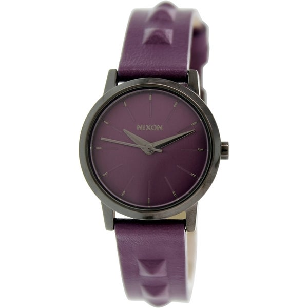 Nixon Women's Kenzi A3981812 Purple Leather Quartz Watch